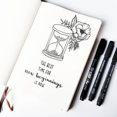 Bullet journal quote page, flower drawing, hourglass drawing. Bullet journal quote page, flower drawing, hourglass drawing. Bullet Journal Inspo, Bullet Journal Quote Page, Bullet Journal Spreads, Self Care Bullet Journal, Bullet Journal Headers, Bullet Journal Notebook, Bullet Journal Ideas Pages, Bullet Journal Layout, Journal Pages