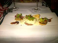 Beef tatar, foie gras, black truffles @ Restaurant Drei Stuben