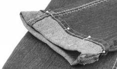 gkkreativ: Jeans kürzen und den Orginalsaum erhalten