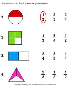 Fraction worksheets and printables printable math worksheets for kids kids Math Fractions Worksheets, Printable Math Worksheets, 1st Grade Worksheets, Kindergarten Worksheets, Worksheets For Kids, Math Activities, Math Games, Learning Fractions, First Grade Math