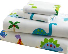 Olive Kids 210 Thread Count Dinosaur Land Sheet Set