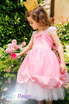Cinderella  dress PINK BALL GOWN  Princess Tutu dress from Lover Dovers handmade Halloween girls costume