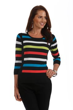 J'envie at Jonathan Fashion | FALL 2014 | Exquisite fit! | bright stripes