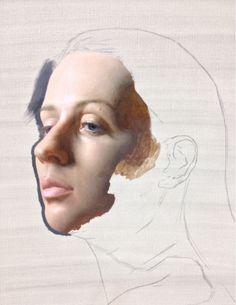 Portrait painting in progress…oil on linen