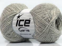 Fiber Content 50% Acrylic 25% Alpaca 25% Merino Wool Light Grey Brand Ice Yarns fnt2-45635