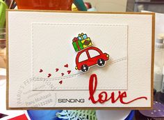 card car gifts hearts Lawn Fawn Home for the Holidays stamp set, scripty love, scripty words and letters