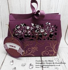 Ann's Happy Stampers: Copper Heat Embossed Detailed Floral Thinlits Bag