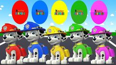 Learn Colours with Marshall PAW Patrol Surprise Eggs, Colors for Childre...