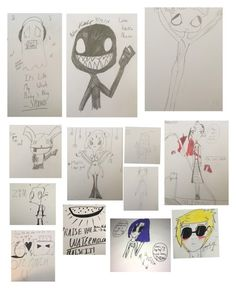 """""""I drew these!"""" by mangledpanda ❤ liked on Polyvore featuring art"""