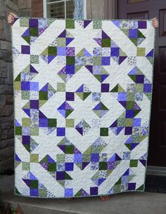 Star Quilt Blocks, Strip Quilts, Panel Quilts, Scrappy Quilts, Easy Quilts, Quilt Square Patterns, Patchwork Quilt Patterns, Quilting Patterns, Star Patterns