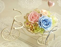 preserved flower flower bicycle