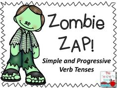 Zombie Zap Simple and Progressive Verb Tenses Tenses Grammar, Grammar Skills, Verb Tenses, Reading Worksheets, Worksheets For Kids, Reading Groups, Kids Reading, Speech And Language, Language Arts