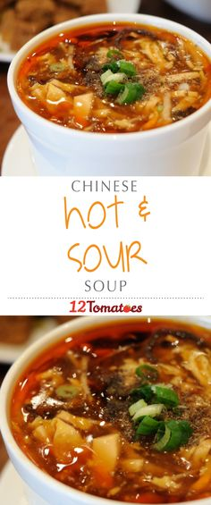 Hot & Sour Soup | While there are some dishes that we leave to the restaurant pros, we've realized that we can make our own versions of said dishes and they're actually really, really good! #chinesefoodrecipes