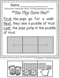math worksheet : 1000 images about speaking of speech and language on pinterest  : First Next Last Worksheets For Kindergarten
