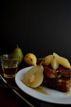 Brioche French toast with whisky pears!