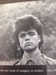 And finally, Peter Dinklage's game-changing '80s yearbook mullet. | The 31 Most Important Mullets That Ever Existed