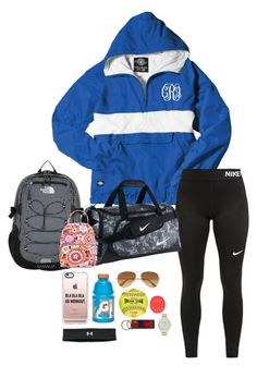 """""""Me next year✌️"""" by sassysouthernprep99 ❤ liked on Polyvore featuring Under Armour, Casetify, River Island, Kate Spade, The North Face, NIKE, Ray-Ban, Rawlings and Vera Bradley"""