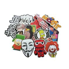 100 Pcs/set Mixed Stickers Kids Adult Funny Toys for Laptop Skateboard Luggage Fridge Home Halloween Decoration Fun Game Gifts