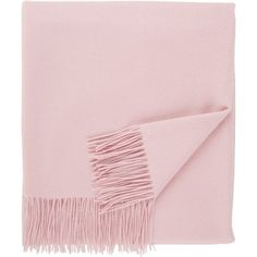 Sofia Cashmere Brushed Throw ($295) ❤ liked on Polyvore featuring home, bed & bath, bedding, blankets, fillers, pink, cashmere throw blanket, pink throw, cashmere blanket and fringed throws