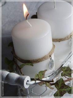 Création Mariemerveille...    http://www.marimerveille.com/albums/autour_de_noel/photos/46150254-bougies_de_l_avent__noel_nordique.html