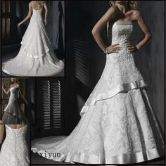 China Lace Wedding Dress / Bridal Gown (Yan-28) - large image for Lace Wedding Dress