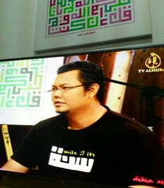 featured on TV Al Hijrah... talking about Kufi Square Calligraphy