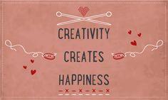 #Creatief bezig zijn maakt #gelukkig! #quote www.gbrouwer.nl