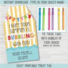 End of the year bubble tags pinterest free printable free and instant download and editable summer break end of school year classmate gift tags negle Choice Image
