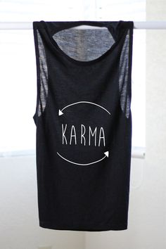 Karma Flowy Muscle Tank  Yoga Shirt  Flowy tank  by ArimaDesigns