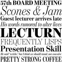 Benton Modern Display typeface specimen