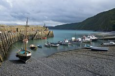 Boats in the harbour, Clovelly, North Devon