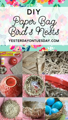 How to make Paper Bag Bird's Nests for Easter and Spring with some unexpected supplies! #nests