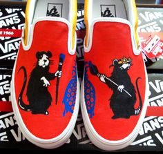 Vans Little Mice  Red Shoes