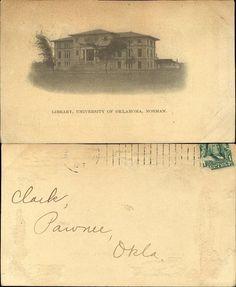 Library University of Oklahoma Norman 1907 | eBay