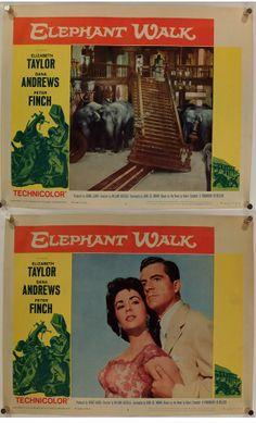 Elephant Walk Lobby Card Set of 8 Original by rearwindowposters, $95.00