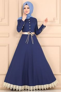 Modern Hijab Fashion, Muslim Fashion, Look Fashion, Hijab Evening Dress, Hijab Dress Party, Indigo, Asian Bridal Dresses, Beautiful Dress Designs, Simple Gowns