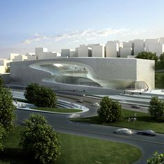 King Abdullah II House of Culture & Art by Zaha Hadid Architects