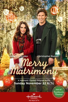 """Find out more about the Hallmark Channel movie """"Merry Matrimony,"""" starring Jessica Lowndes and Christopher Russell Películas Hallmark, Films Hallmark, Hallmark Holiday Movies, Xmas Movies, 2015 Movies, Hallmark Channel, Family Movies, Disney Channel, Movies To Watch"""