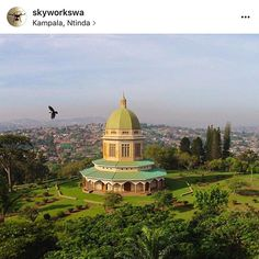 @skyworkswa has posted easily one of the most stunning photos I've ever seen of the #bahai House of Worship in Uganda. the bird in the shot especially makes it! Check out @skyworkswa for more beautiful drone photography.