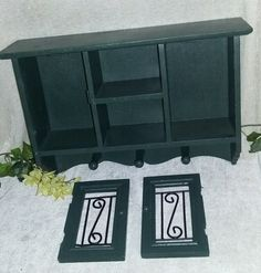 $9.96 or best offer Wood Hanging Cabinet Wall Mount Vintage Display Case  #Handmade #Country