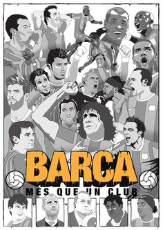 Barca poster by Dan Leydon Barça mes que un club