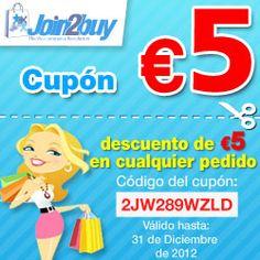 5€ #gratis en @Join2Buy para Compras Comunitarias con código:2JW289WZLD hasta 31/12 http://www.expotienda.com/index.asp?categoria=16=10