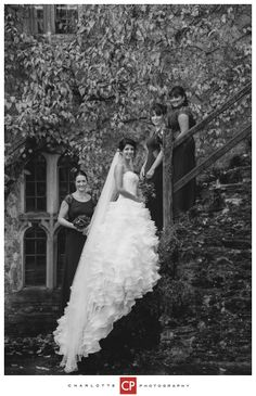 Bride & Bridesmaids at a Devon wedding - photographed by Charlie, a photographer in Somerset, www.charlottephotography.co.uk
