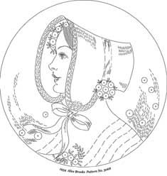 Pattern Detail | Lady in Profile with Bonnet | Needlecrafter
