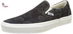 Vans Ua Classic Slip-On, Sneakers Basses Homme, Noir (Floral Jacquard Black/Blanc de Blanc), 39 EU - Chaussures vans (*Partner-Link)