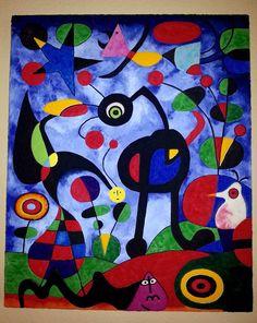 El Jardín de Miró realizado con arenas y pigmentos