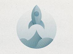 Rocket, textured icon. Yoga Perdana