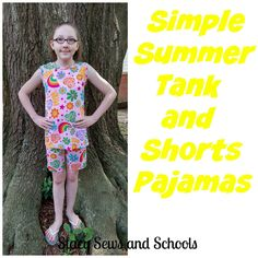 Stacy Sews and Schools: Simple Summer Tank and Shorts Pajamas Tutorial
