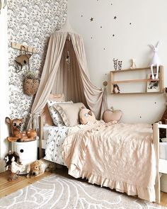 Insider Secret On Dreamy Girl's Bedroom Uncovered 51 - homesdeccor Girl Room, Girls Bedroom, Bedroom Ideas, Grey Bed Frame, Cool Kids Rooms, Pink Kids, Cozy Fashion, Room Interior Design, Kid Beds