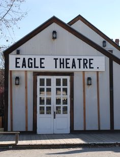 The Eagle Theater in old town Sacramento, CA. Built in 1849 it was the first entertainment outside of saloons and gambling halls. Zippertravel.com Digital Edition